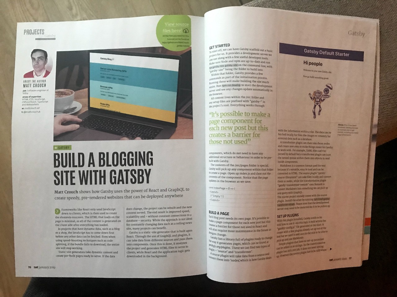 Create a static website with Gatsby